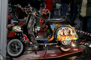 Custom Lambretta Beatles airbrushed
