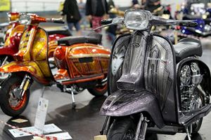 Lambretta GP in grey and in sparkles