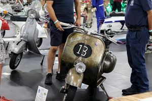 Vespa custom painted rusty ScooterExpo 2019