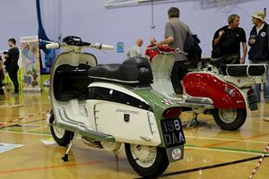 Some classic Lambrettas all polished up